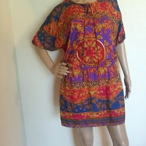 Angie Boho Paisley Mini Dress